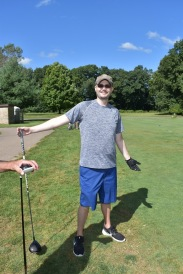 Taylor VanSchoick at his golf outing in August. Photo by Lisa Harbour.