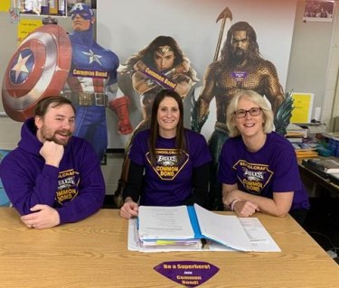 Pictured left to right: Aaron Beery, special education teacher at Schoolcraft Middle School, Christine Fenner, special education teacherat Schoolcraft Elementary School and Amy Green, special education teacher at Schoolcraft High School.