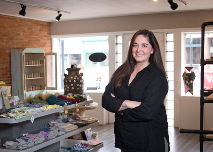 Stacey Sherman, the owner of the new craft store in Schoolcraft inside the building. Photos by Reflections Photography.