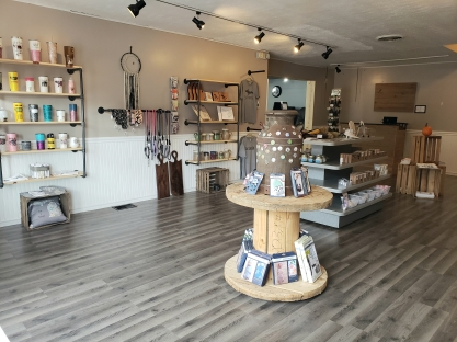 The showroom for Craft + Grand Gift Boutique.