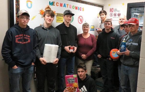 First hour Computerized Manufacturing food drive