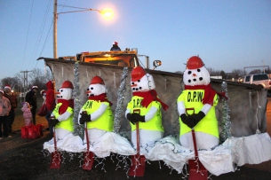 The Vicksburg Department of Public Works won first prize in the 2018 parade for their creative float. It epitomizes the work this crew does in the winter months in the village to keep the streets plowed.