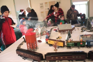 Activities at the Historic Village on S. Richardson Street include the model trains run by Joe Timko and his sidekicks Rick Davison, Phil Timko, Travis Robertson and Justin Plankenhorn.