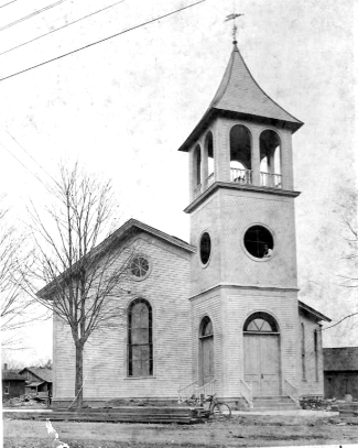 The First Methodist Church in Vicksburg as it looked in the early 1900s.