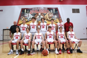 Freshman Basketball Seated from left: Kenneth Youngs, Luke Bainter, RJ Vallier, Cole Gebben, Bryce Smith, Josiah McClelland. Standing from left: Head Coach Paul Gephart, Caden Bowling, Grant Anderson, Cody Hatridge, Stuart Brown, Brenden Hoffman, Asst. Coach Jermaine Douglas. Missing from photo: Garrett Schramer.