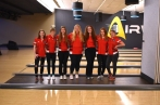 Bowling From left to right: Jenna Richardson, Payton Johnson, Mykah Zehner, Kassidee Root, Sky Trimble, Samantha Fritz, and Bailey Derrick. Photo by Lisa Harbour.