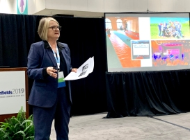 Jackie Koney is shown during her Brownfield presentation in Los Angeles.