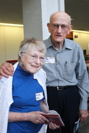 Senior citizens Shirley and Hal Ray at one of the WMU Osher Life Long Learning programs.