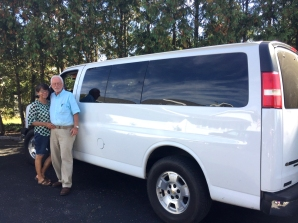 Alicia and Andy Blodgett in happier times, loaded up this van in Schoolcraft, to take gifts to children in Mexico.