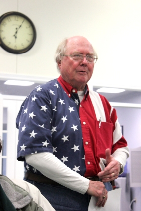 John Gisler in his stars and stripes.