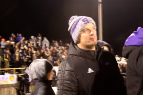 Schoolcraft football coach Nathan Ferency at a recent game.