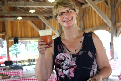 Kim Klein in happier times at the Farm to Table dinner.