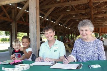 Dr. Paula Schriemer, middle, at a Generous Hands event last summer.