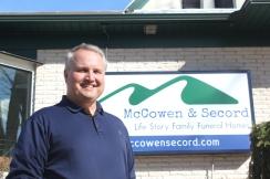 Steve McCowen, Vicksburg and Schoolcraft funeral director.