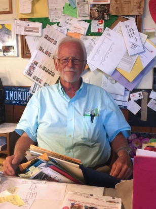 Andy Blodgett in his office before he passed away.