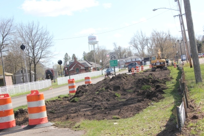 The non-motorized trail from Vicksburg to the city limits of Portage is almost complete with this work stretching on Richardson to North Street and the parking lot at the current trail head.