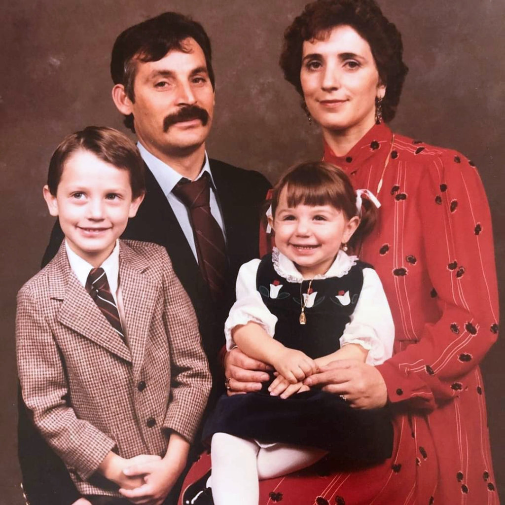 The Scavone family in the early 1980s.